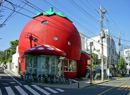 Creative strawberry house located in Denenchofu, Tokyo (Japan)