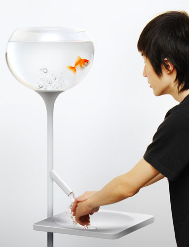 There Is A Traditional Shaped Fish Bowl ...
